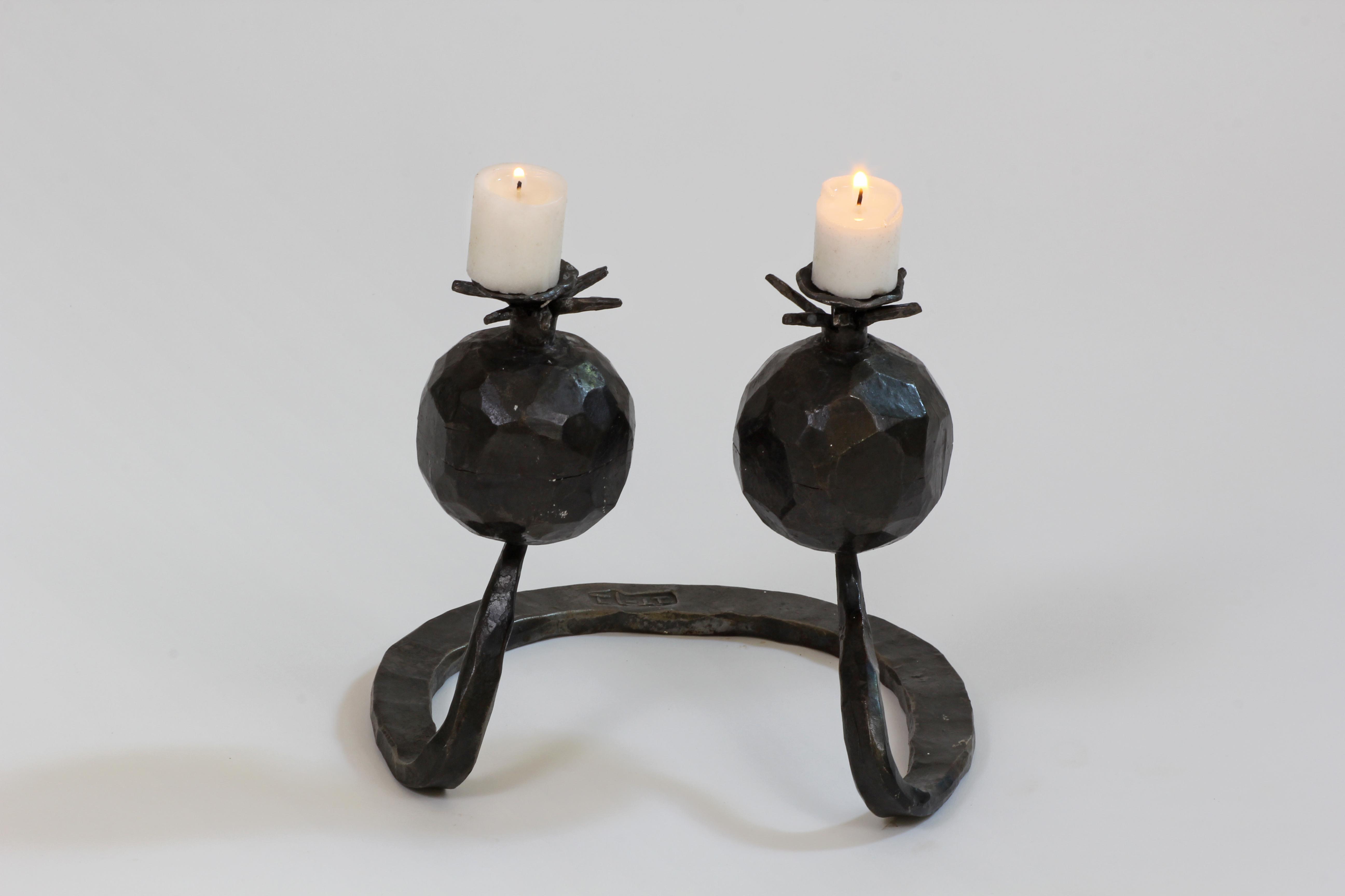Pomegranate Candle Holder in Iron
