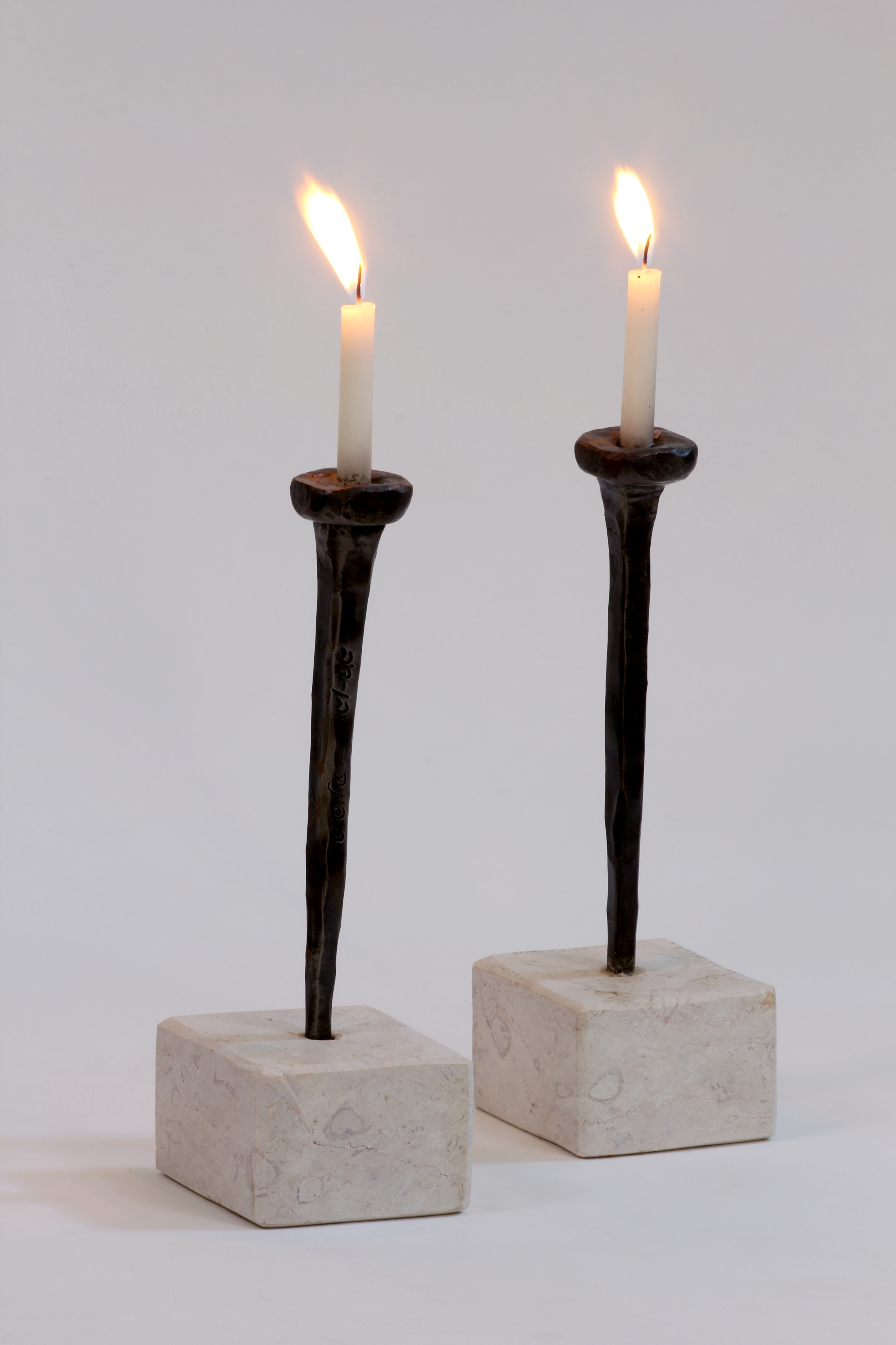 Cubes Candle Holder from Iron & Stone