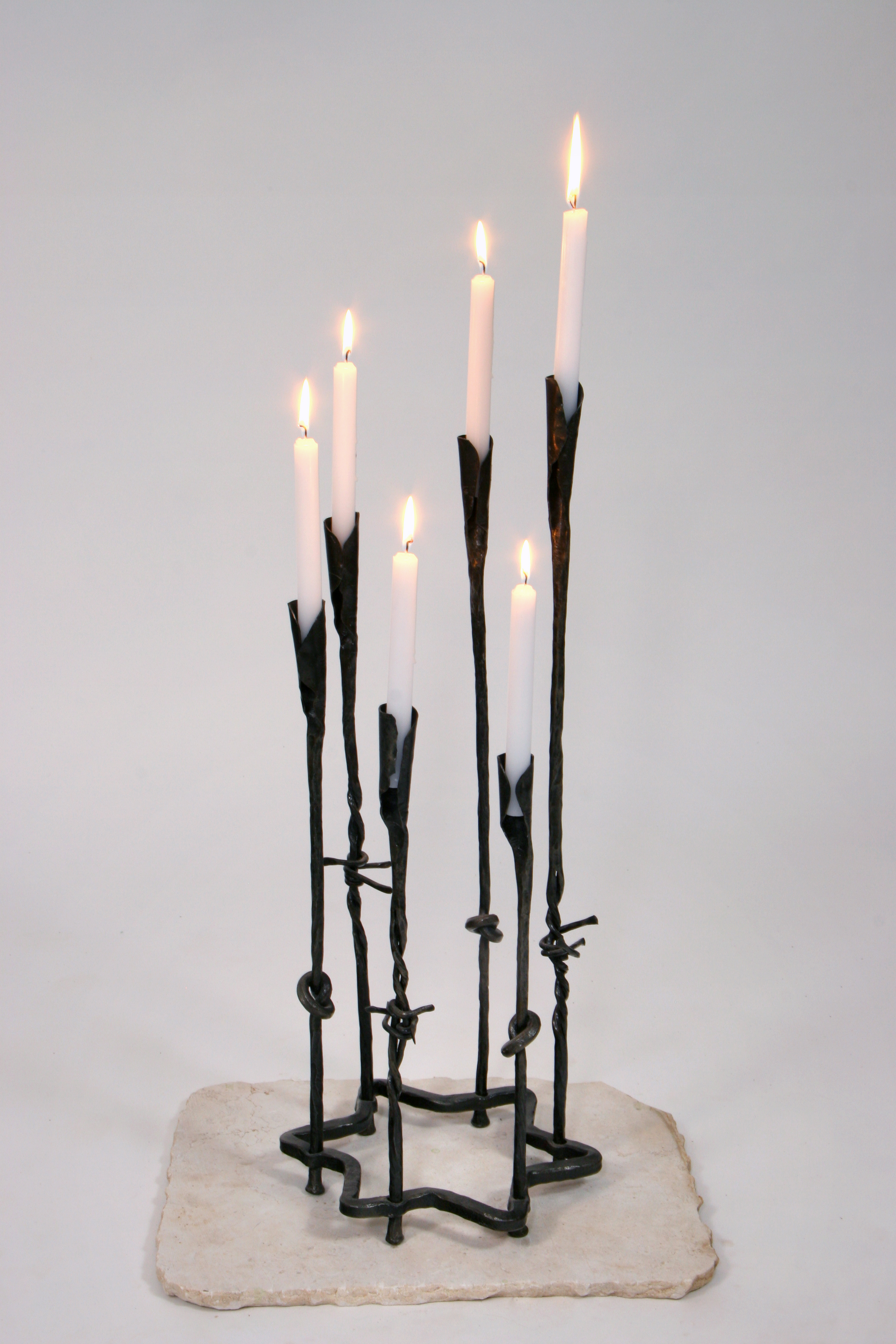 '6 million (small)' - Unique Holocaust Memorial Candle of Forged Iron